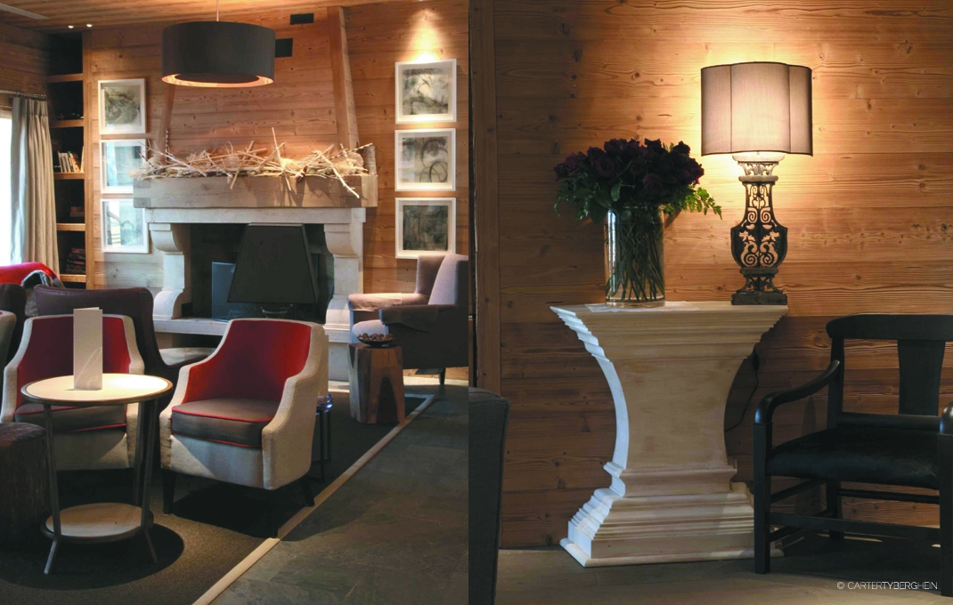 hotel le chalet blanc montgenevre commercial interior design portfolio